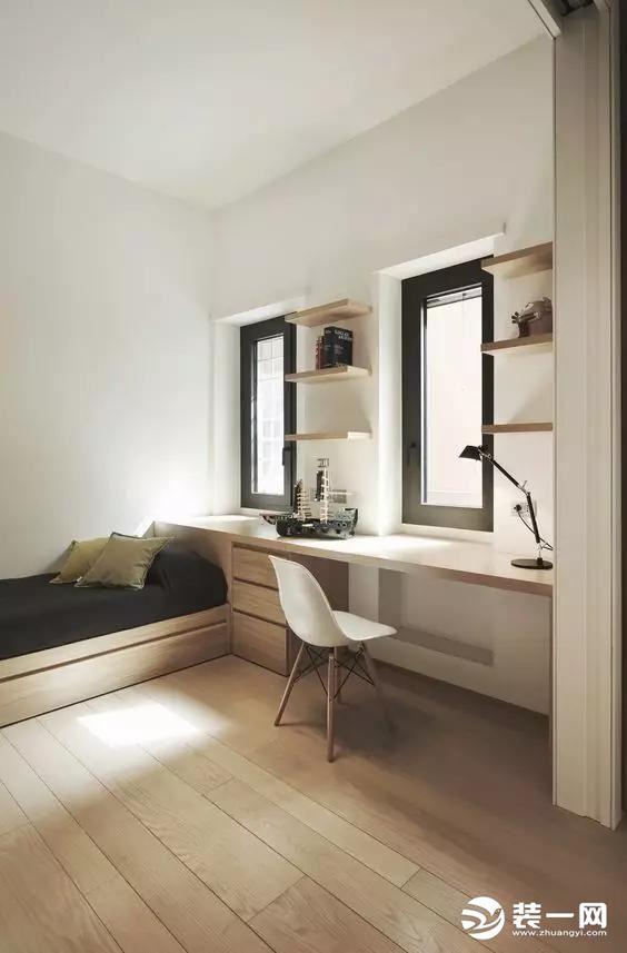【西安博亚软装】榻榻米和书桌的组合,才是小户型的最佳选择